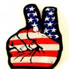 American flag Peace sign hand Small Badge Biker Vest Jacket Patch SB819