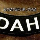 "IDAHO ROUND CORNERS Back Patch Bottom Rocker for Biker Veteran Vest Jacket 10"""