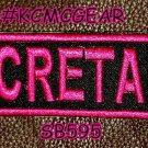 SECRETARY Pink on Black Small Badge for Biker Vest jacket Motorcycle Patch
