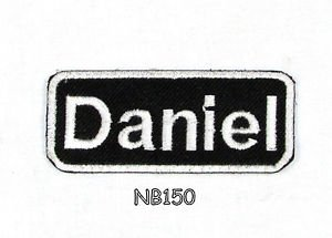 DANIEL Name Tag Patch Iron or sew on for Shirt Jacket Vest New BIKER Patches