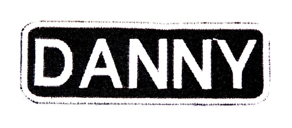 DANNY Name Tag Patch Iron on or sew on for Shirt Jacket Vest New Name Patches
