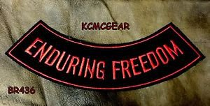 ENDOURING FREEDOM Bottom Rocker Biker Motorcycle Vest Jacket Back Patch BR436