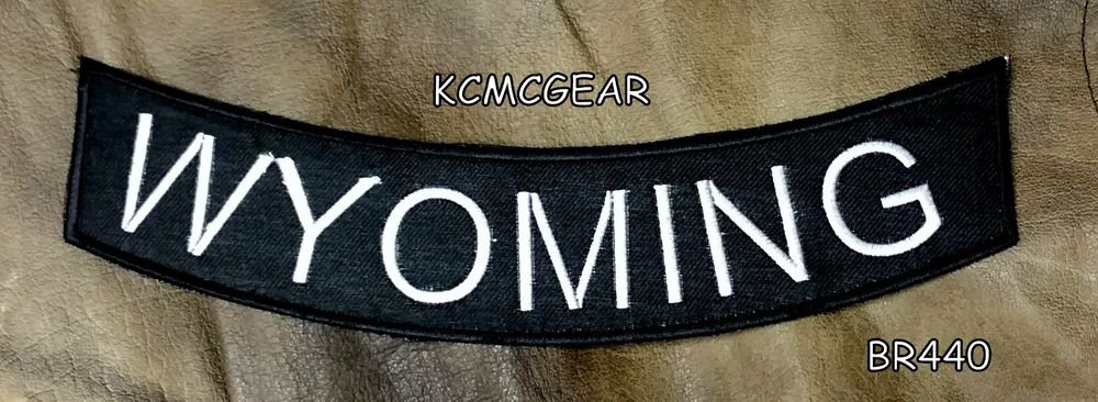 WYOMING Bottom Rocker for Biker Motorcycle Vest Jacket Back Patch BR440