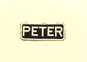 PETER Name Tag Patch Iron on or sew on for Shirt Jacket Vest New Name Patches