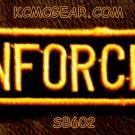 ENFORCER Orange on Black Small Badge for Biker Vest jacket Motorcycle Patch