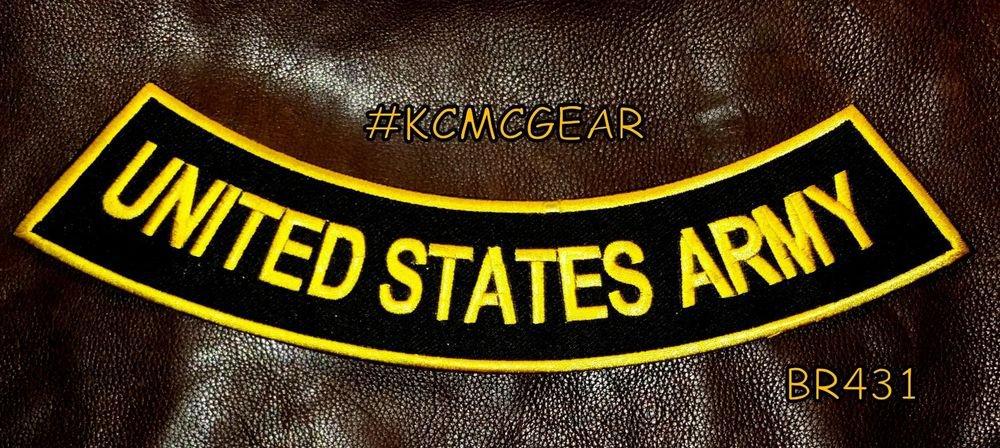 "UNITED STATES ARMY Back Patch Bottom Rocker for Biker Veteran Vest Jacket 10"""