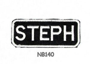 STEPH Name Tag Patch Iron or sew on for Shirt Jacket Vest New BIKER Patches 145