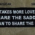 IT TAKES MORE LOVE Small Badge for Biker Vest Jacket Motorcycle Patch