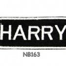 HARRY Name Tag Patch Iron or sew on for Shirt Jacket Vest New BIKER Patches