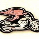 Angel on Motorcycle Small Badge Biker Vest Jacket Patch SB820