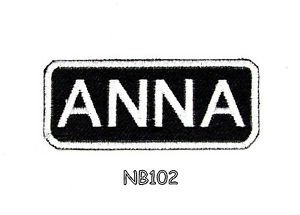 ANNA Name Tag Patch Iron or sew on for Shirt Jacket Vest New BIKER Patches