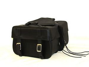 MOOTORCYCLE Saddlebags FOR HARLEY DYNA SUPERGLIDE Zip off Velcro Closure on Lid