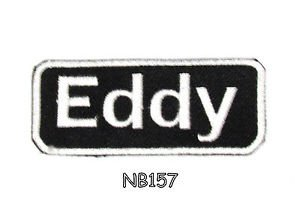 EDDY Name Tag Patch Iron or sew on for Shirt Jacket Vest New BIKER Patches