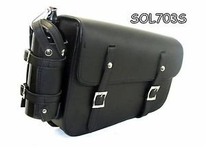 Two strap Synthetic leather swing arm bag three adjustable strap mounting