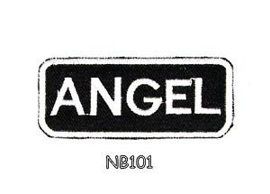 ANGEL Name Tag Patch Iron or sew on for Shirt Jacket Vest New BIKER Patches
