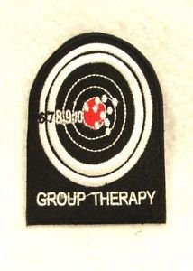 Group therapy White and red on black Small patch for Biker Vest Motorcycle Patch