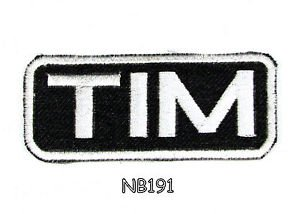 TIM Name Tag Patch Iron or sew on for Shirt Jacket Vest New BIKER Patches