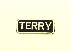 TERRY Name Tag Patch Iron on or sew on for Shirt Jacket Vest New Name Patches
