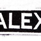 ALEX Name Tag Patch Iron or sew on for Shirt Jacket Vest New BIKER Patches