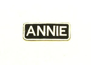 ANNIE Name Tag Patch Iron on or sew on for Shirt Jacket Vest New Name Patches