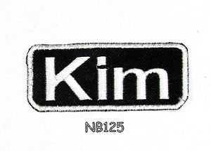 KIM Name Tag Patch Iron or sew on for Shirt Jacket Vest New BIKER Patches