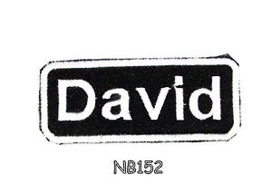 DAVID Name Tag Patch Iron or sew on for Shirt Jacket Vest New BIKER Patches