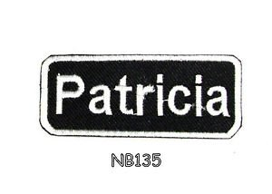 PATRICIA Name Tag Patch Iron or sew on for Shirt Jacket Vest New BIKER Patches
