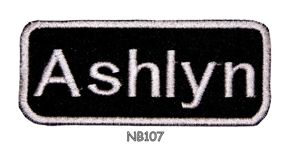 ASHLYN Name Tag Patch Iron or sew on for Shirt Jacket Vest New BIKER Patches