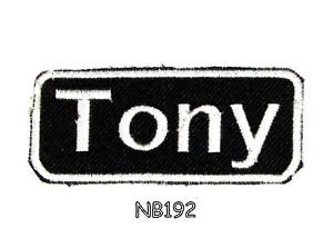 TONY Name Tag Patch Iron or sew on for Shirt Jacket Vest New BIKER Patches