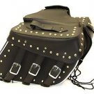 Cowhide Genuine Leather Motorcycle saddlebags quick release zip off