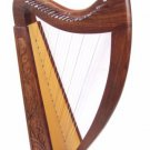 Starter learner Harp 21 string Irish Celtic Style Solid Wood free Bag & strings