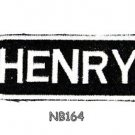 HENRY Name Tag Patch Iron or sew on for Shirt Jacket Vest New BIKER Patches