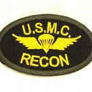 US MC recon Yellow and green on black Small Badge Biker Vest Motorcycle Patch
