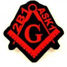 Mason 2b1 ASK1 Red and black Small Badge for Biker Vest Jacket Patch SB742