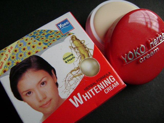 LOT of 3 pcs YOKO Herbal Formula Whitening Cream (Ginseng & Pearls) 4g FREE SHIPPING