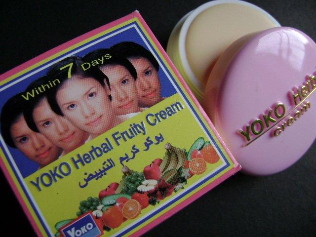 "LOT of 3 pcs YOKO Herbal Fruity Cream (""Within 7 Days"") 4g FREE SHIPPING"