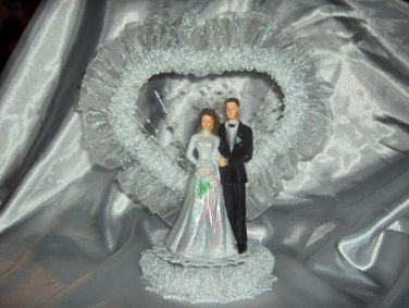 Wedding Cake Topper with Organza trims HP3754