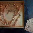 Multi colored genuine pearl jewelry set