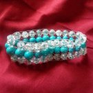 3 tier multi colored turquoise bracelet