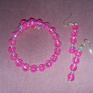Pink and yellow jewelry set