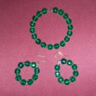 Green and gold jewelry set