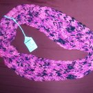 Multi pink colored ribbed infinity scarf