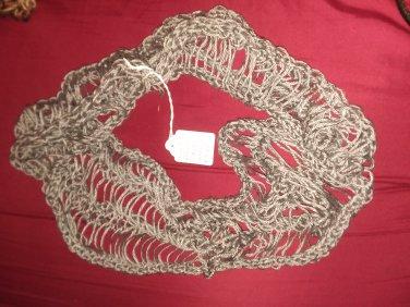 Gray dew drop infinity scarf