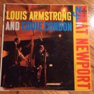LOUIS ARMSTRONG & EDDIE CONDON AT THE NEWPORT JAZZ FESTIVAL 9-SONG 6-EYE LP