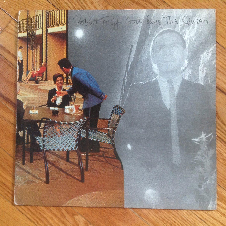 Robert Fripp �� God Save The Queen / Under Heavy Manners vinyl album LP USA
