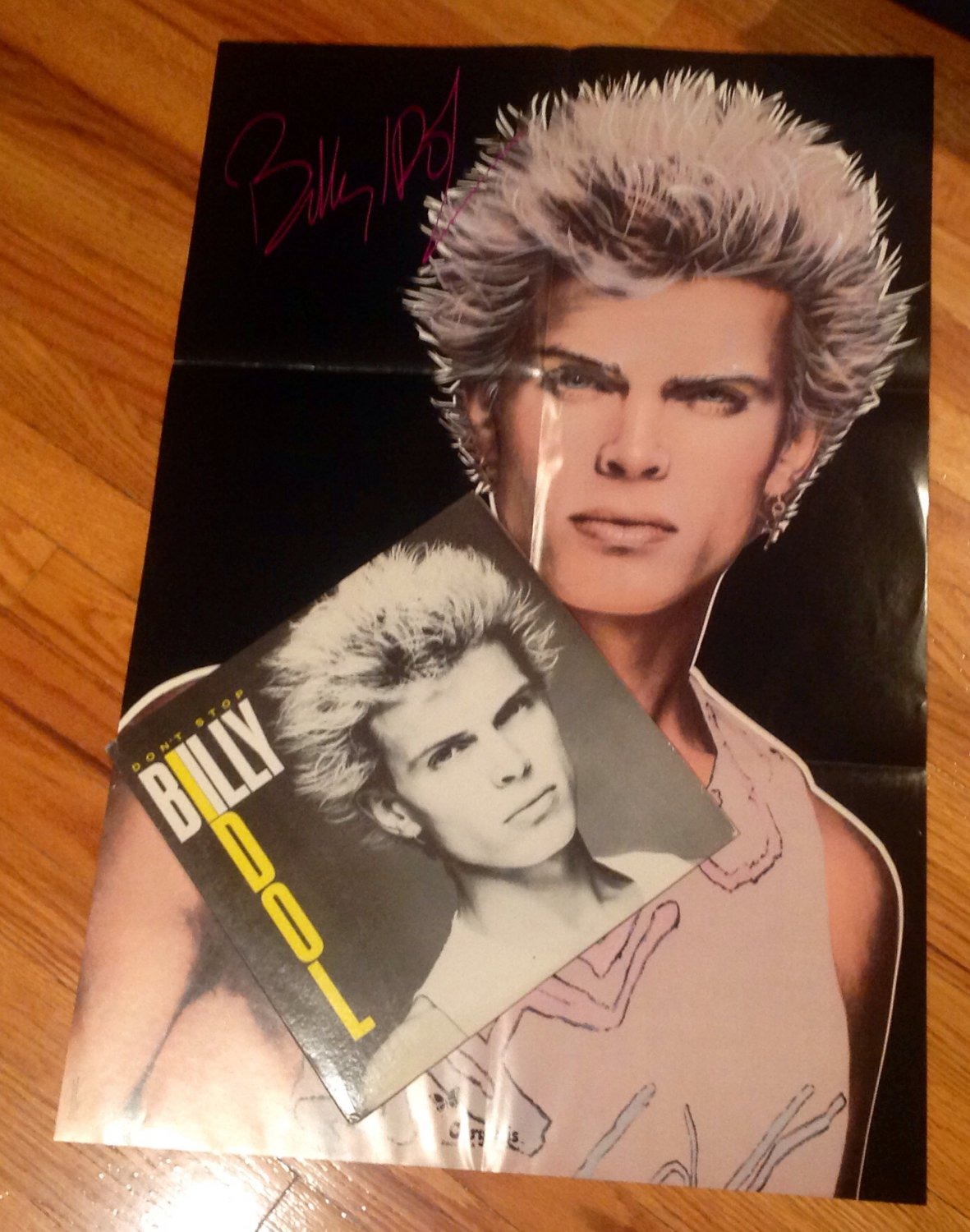 BILLY IDOL - DON'T STOP - 4 TRACK EP with POSTER Vinyl