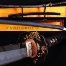 Japanese Shihozumi Full Tang Clay Tempered Katana Sword  Abrasive With Copper Tsuba
