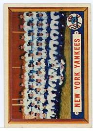 New York Yankees Team Card 1957T #97