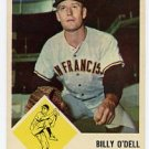 Billy O'Dell 1963 Fleer #66