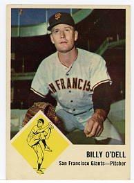 Billy O'Dell 1963 Fleer #66